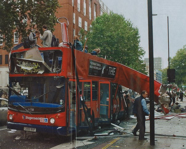 The number 30 bus, bombed at Tavistock Square